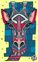 spirit giraffe, has long neck and thinks in colors by ivapb
