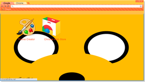 Theme of Jake [Adventure Time] Google Chrome by TutosNatiSUB