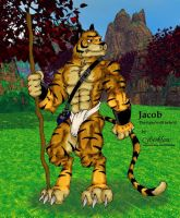 Jacob the tiger-wolf hybrid by Cyberklaw