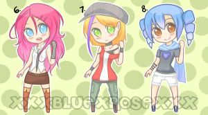 Idk themed ADOPTABLES!(no8 open) by xXxBLUExROSExXx
