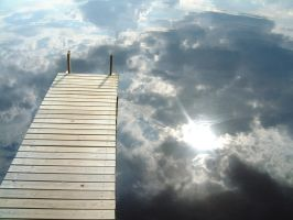 Dock floating on clouds by Zorbul
