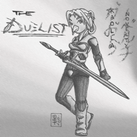 The Duelist: Kaolla NOVELTY BW by 44thwindsword