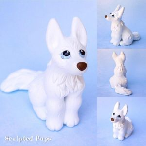 Keira The White Husky Commission By Sculptedpups by ClayfrommyHeart