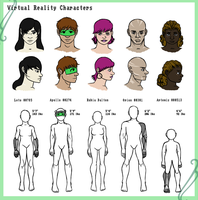 Virtual Reality Characters by Cartoon-Trash