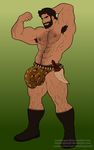 Commission: Jungle wrestler by headingsouth