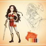 Adoptable: Warrior girl [CLOSED][AUCTION] by Plume-drawing