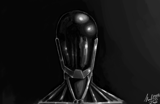 Quick robot sketch by Dragongirl1997