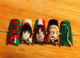 Axis Powers: Hetalia Nail Art by HummingbirdHeartbeat