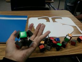 The inside of a Rubiks cube by Ariah101