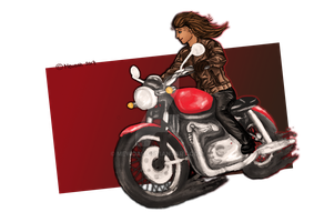 Ezri's motorbike commission / Ready! by MEWOAH