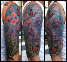 Flowers and butterflys by CAMOSartTATTOO