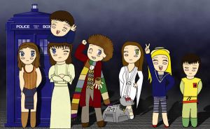 The Doctor and Companions-4 by Seiryuu-san