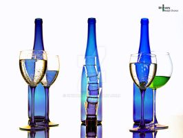 3 blue botle by Shivary
