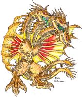 GvS: King Ghidorah by Kaptain-Kefiah