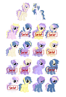 SunSetWonder and DuskGlory. 6 left by Yumi-Kitten