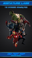 Renders Pack 01 - The Avengers by gabber1991md