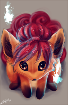 .: Vulpix :. by WhiteSpiritWolf