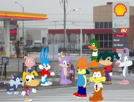 Art Trade: The gas station by YRT9401