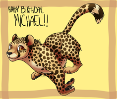 Cheetah for Michael by Mydnite