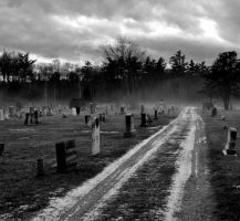 Cemetery After Snow Squall by rayc33