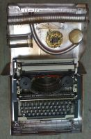 Steampunked typewriter 3 by gmagdic