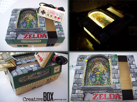 Stained Glass Zelda Custom NES by CreativeBoxGaming