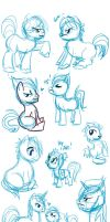 TFP Pony Sketches by xenacee