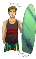 Surfer Dude Ozzy by 3Fangs