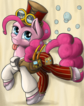 Steampunk Pinkie Pie by NiegelvonWolf