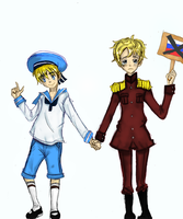 Collab: Sealand and Latvia by the-blue-fish