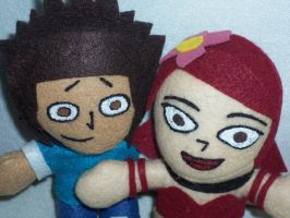 Mike and Zoey plushies by TashaAkaTachi