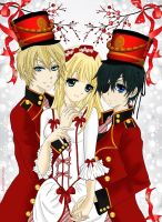 Alois,Sophie and Ciel - The Nutcracker by LibertyBella