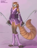 Red Panda Warrior by Ulario
