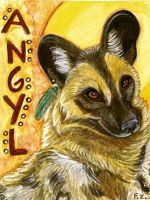 Painted Dog Badge by Foxfeather248