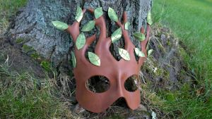 Branchy Tree Leather Mask by A-S-Thompson
