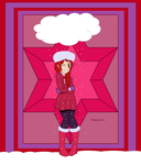 Request- Freezing Caitlin in a furry hat by CreativeChick614