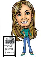 Realtor Caricature a 062412 by raccoon-eyes