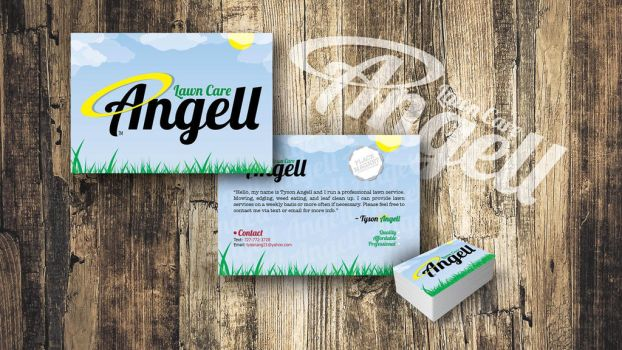 Angell Lawn Care Branding by slater101