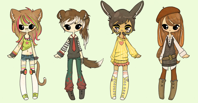Kemonomimi Adopts [ CLOSED ] by InsignificantYeti