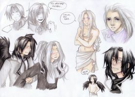 mini arts with Dante n Virgie by Lapis-Razuri