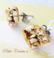 miniature crepe stud earrings1 by PetiteCreation