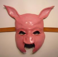 Leather Pig Mask, another view by teonova