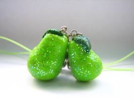 Sugared Pear Charms by mailephoto22
