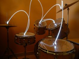Drum light writing by leskimo