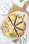 Bacon, Leek, Kale and Garlic Quiche by bittykate