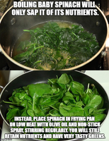 The Proper Way To Cook Baby Spinach by FearOfTheBlackWolf