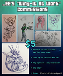 $5 'Wing-It At Work' Commissions [OPEN] by ElectricEidolon
