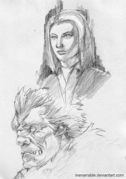 Laura Parton and Zodd by Inenarrable