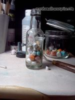 Micro Marshmallow Bottle by Twitchy-Kitty-Studio