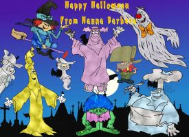Hanna Barbera Halloween by slappy427